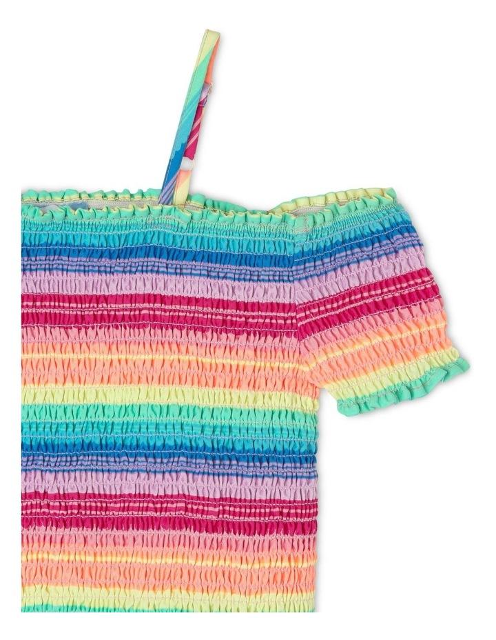 Woven Shirred Rainbow Tee image 2