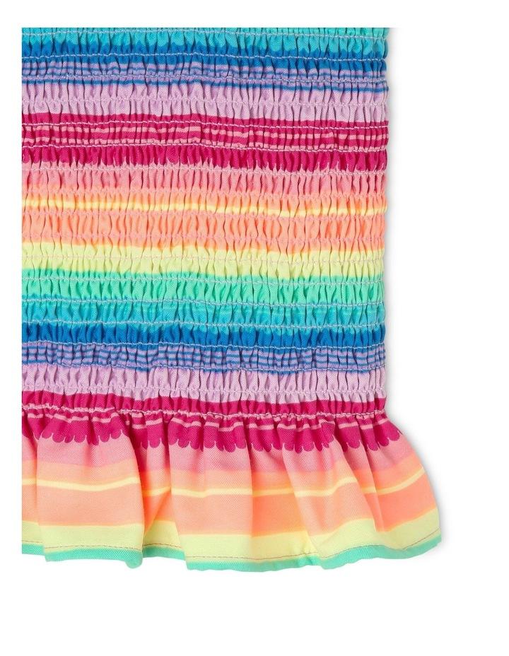 Woven Shirred Rainbow Tee image 3