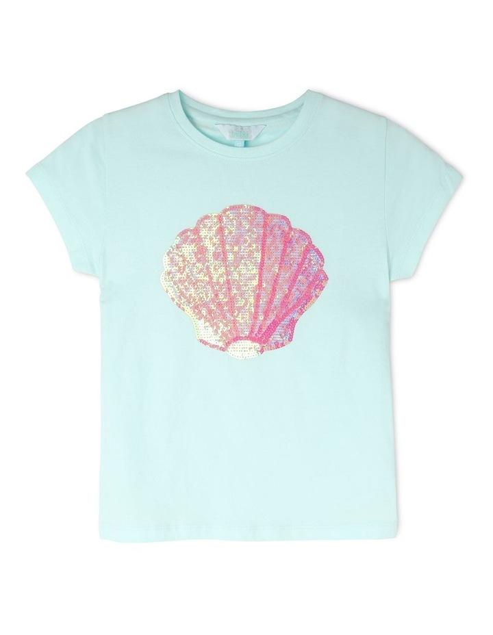 Knit Seashell Sequin Tee image 1