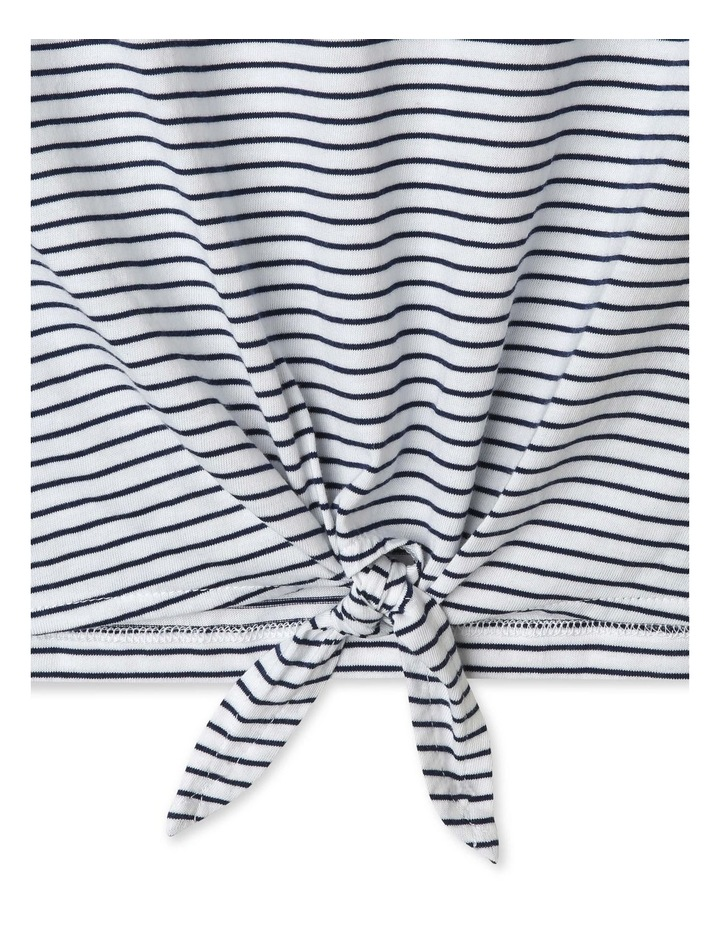 Tie-Front Striped Tee image 2