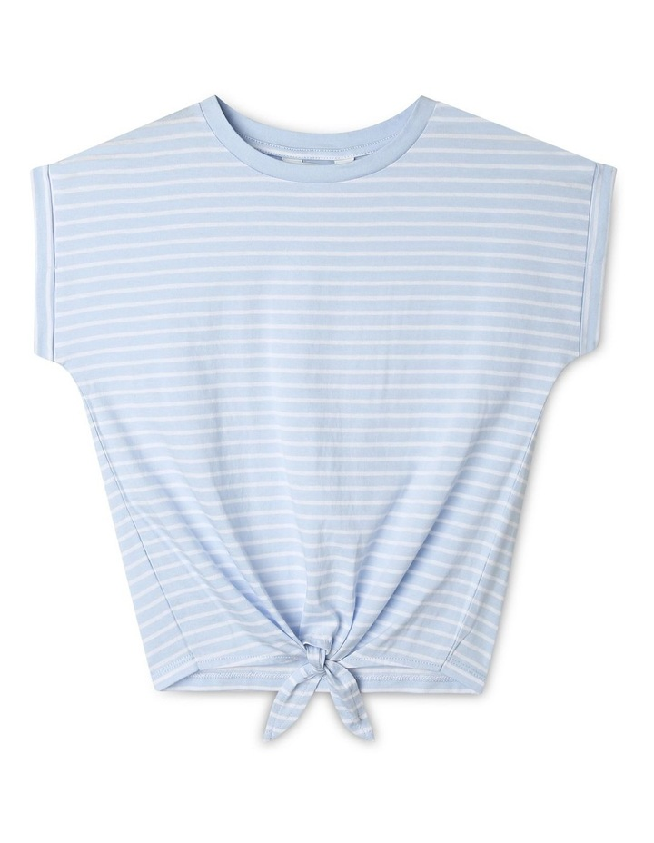 Tie-Front Striped Tee image 1