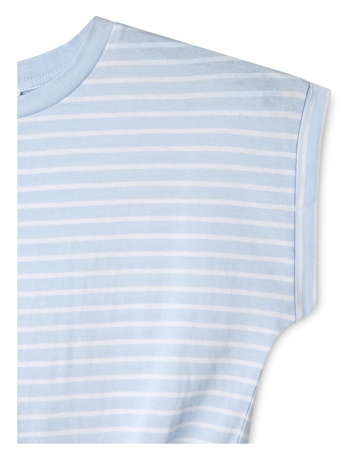 Tie-Front Striped Tee image 3