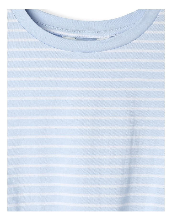 Tie-Front Striped Tee image 4