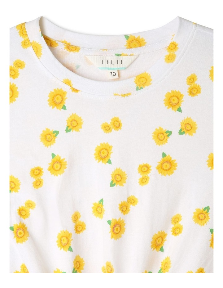 Daisy Print Top with Tie-Front image 3