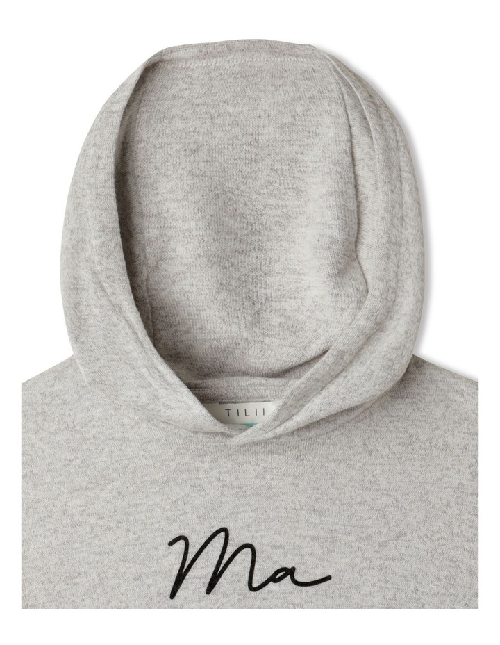 Knit Look Hooded T-Shirt image 2