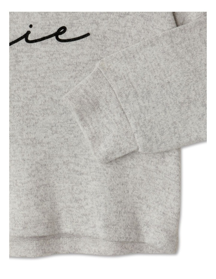 Knit Look Hooded T-Shirt image 4