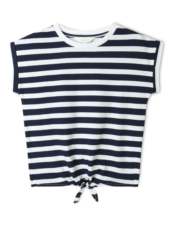 Tie Front T-Shirt Navy image 1
