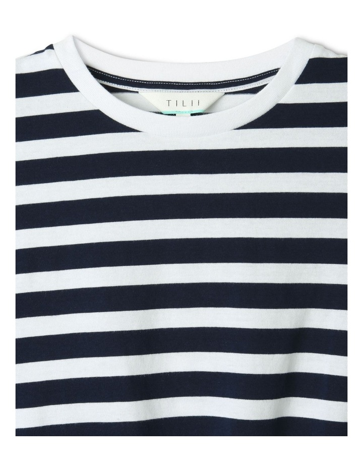 Tie Front T-Shirt Navy image 2