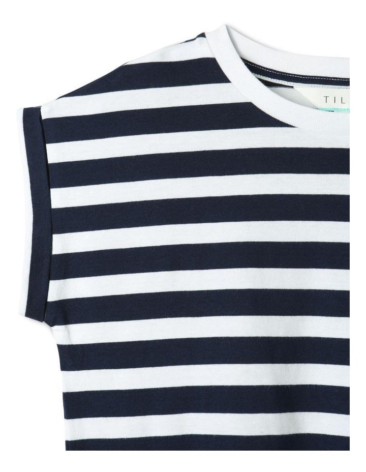Tie Front T-Shirt Navy image 3