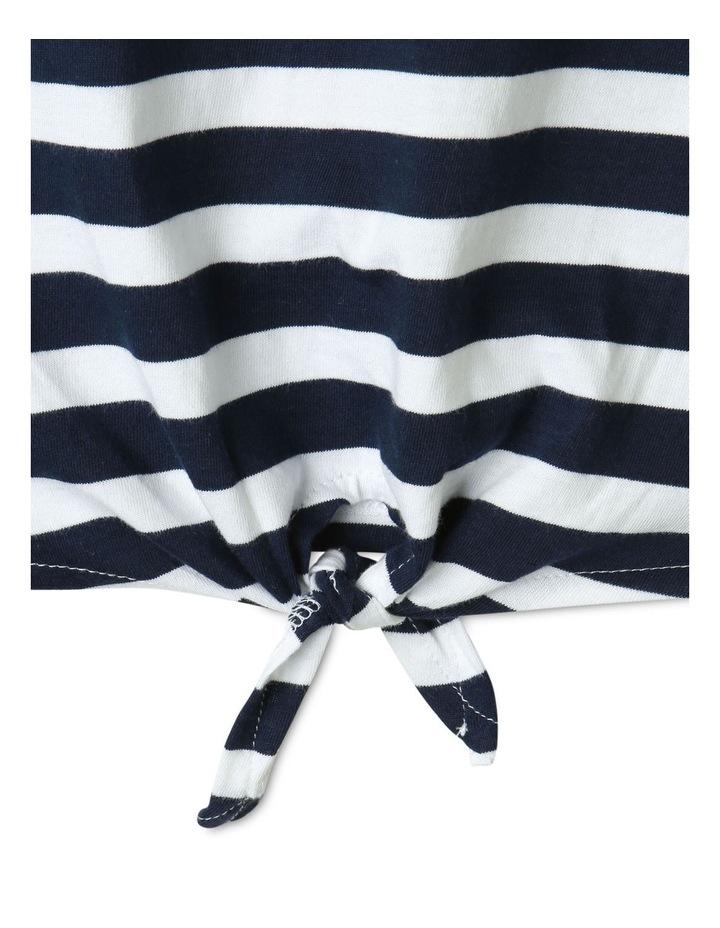 Tie Front T-Shirt Navy image 4