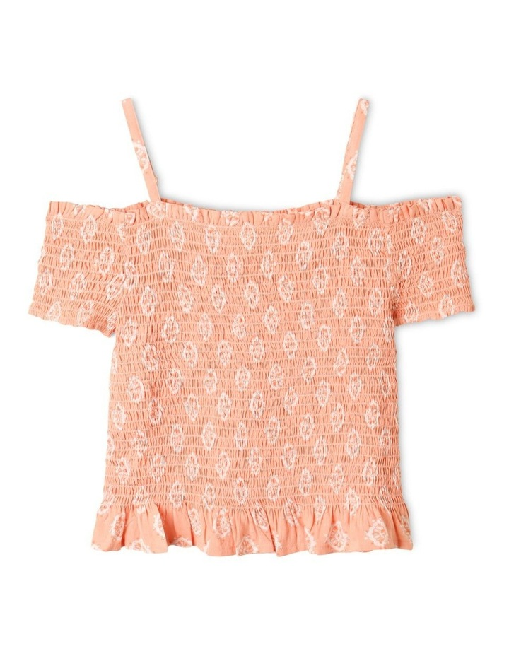 Woven Shirred Top image 1