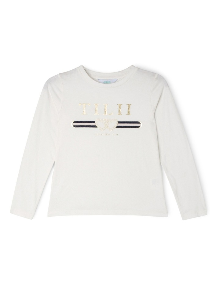 Logo Print Long Sleeve Tee - White image 1
