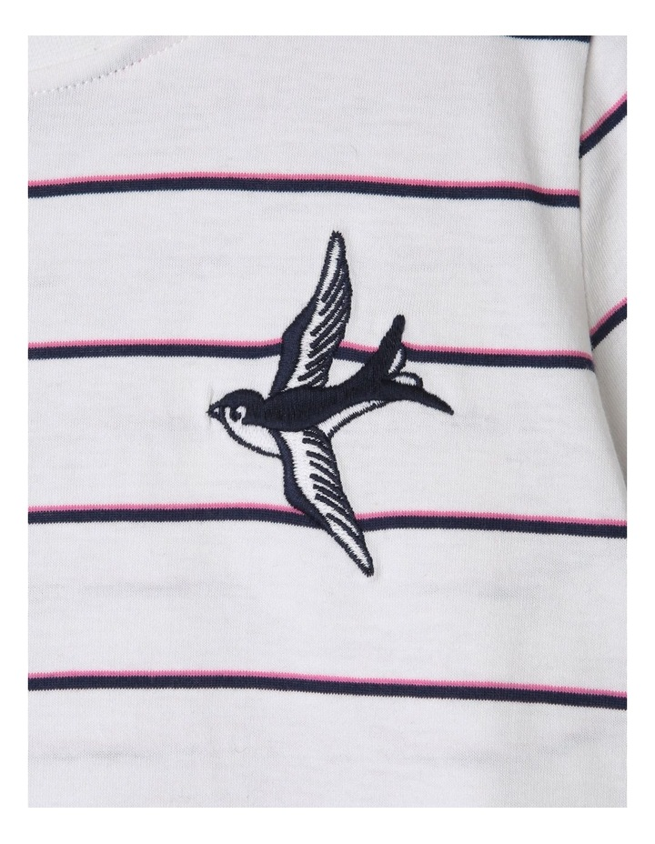 Short Sleeve Yarn Dyed  Knit Tee image 2