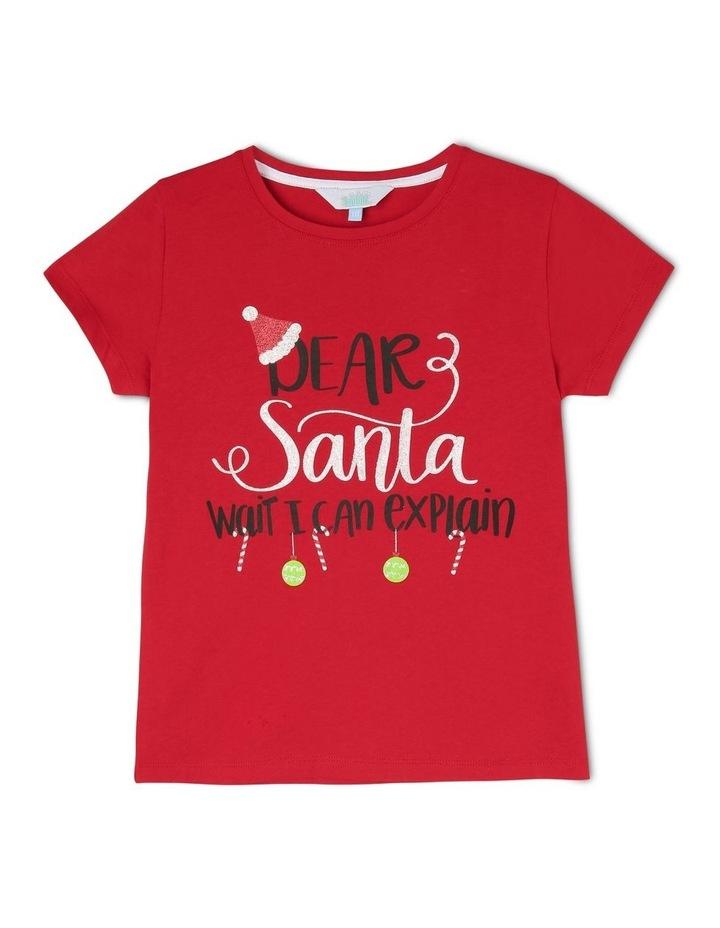 Essentials Short-Sleeve Core T-Shirt - Dear Santa/Red image 1