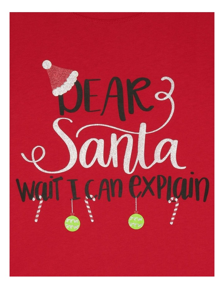 Essentials Short-Sleeve Core T-Shirt - Dear Santa/Red image 2