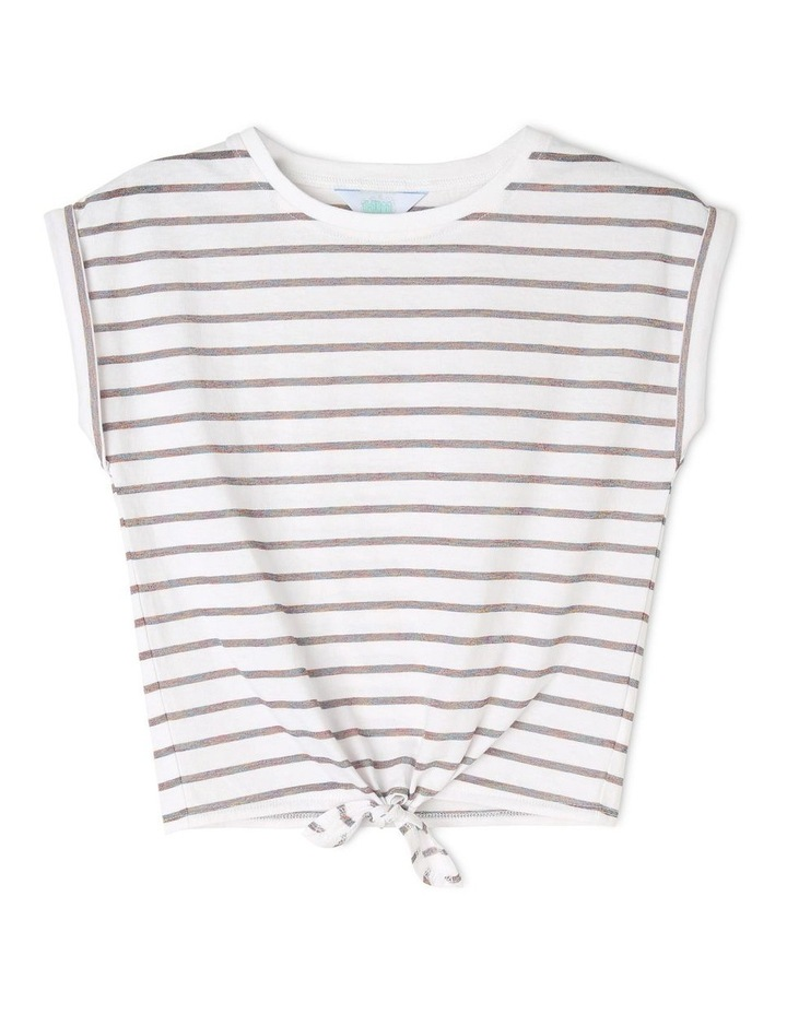 Knit T-Shirt With Knot Front image 1
