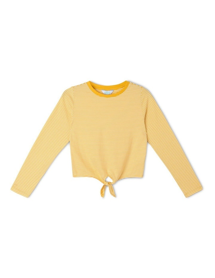 Knit Tie Front Tee image 1