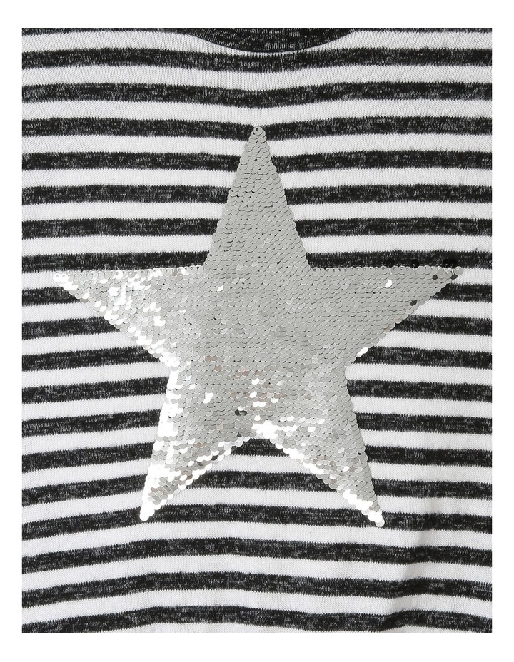 Brushed Tie-Front T/shirt with Sequin Star image 2