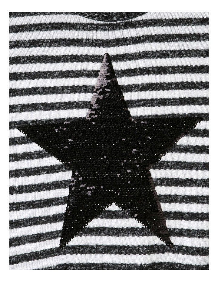 Brushed Tie-Front T/shirt with Sequin Star image 3