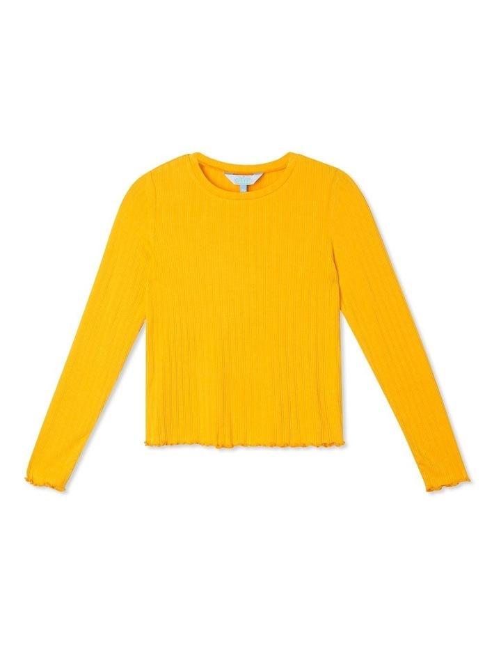 Long-Sleeve Rib T-Shirt with Baby-lock Hem image 1