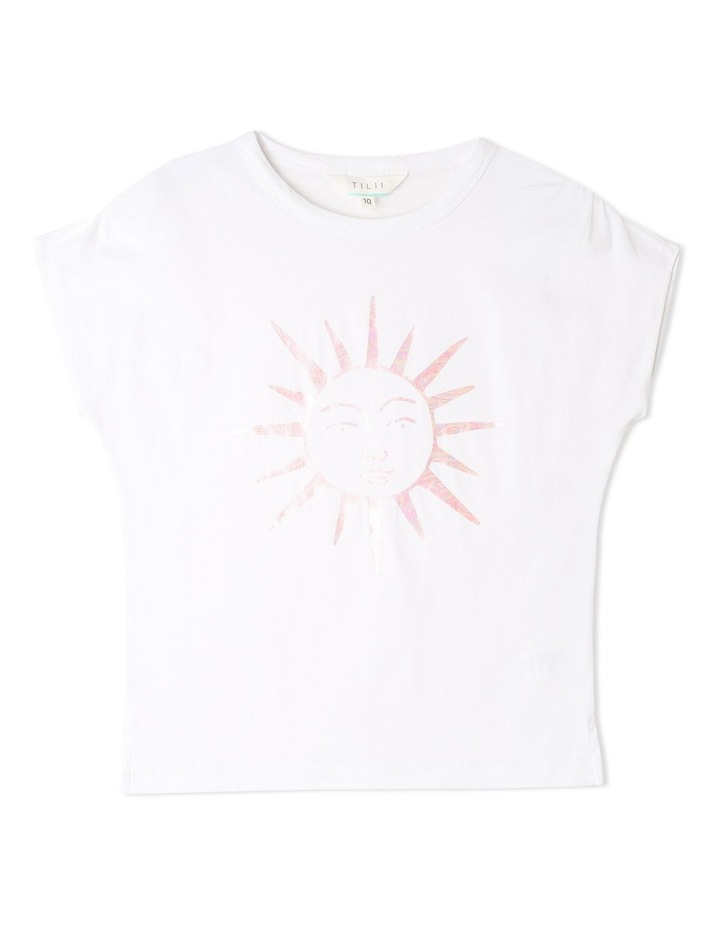 Knit Gathered Shoulder T-shirt image 1