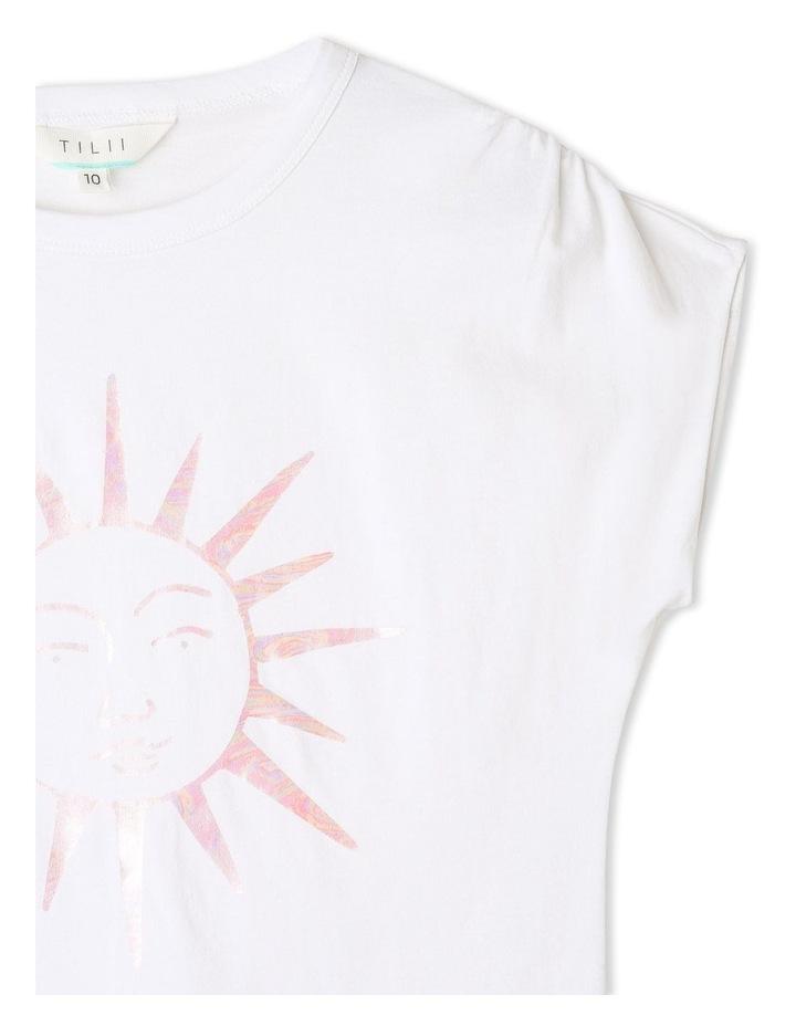 Knit Gathered Shoulder T-shirt image 3
