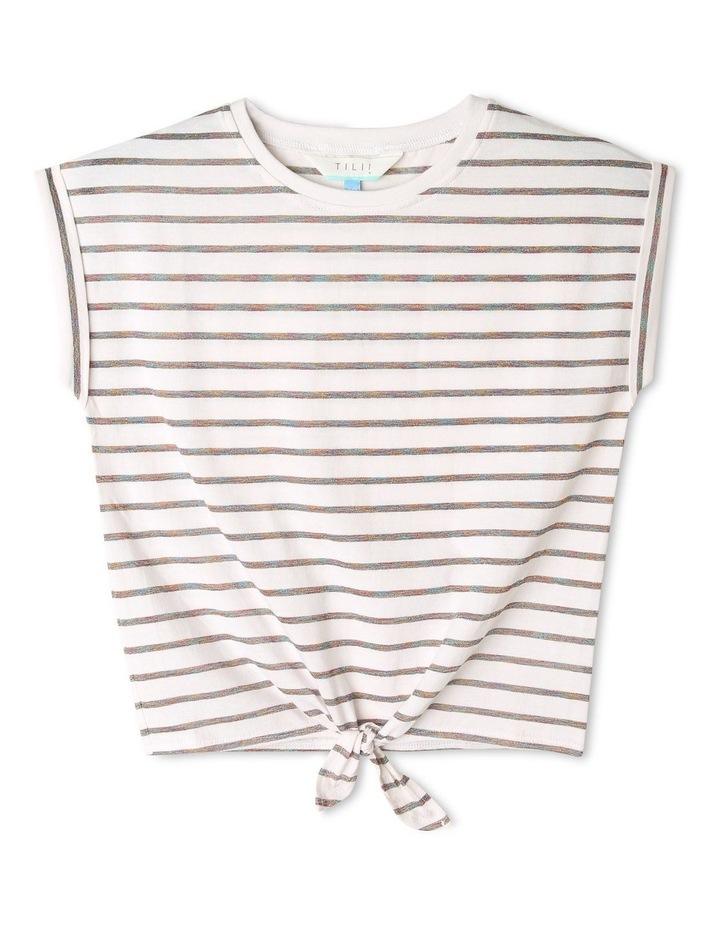 Lurex Tie Front T-shirt image 1