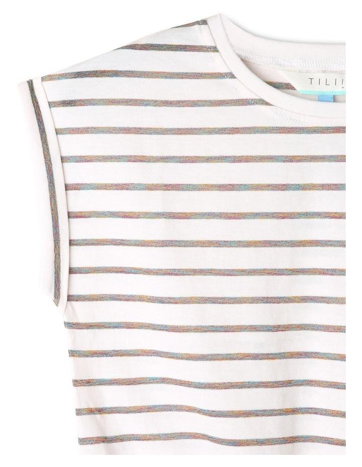 Lurex Tie Front T-shirt image 3