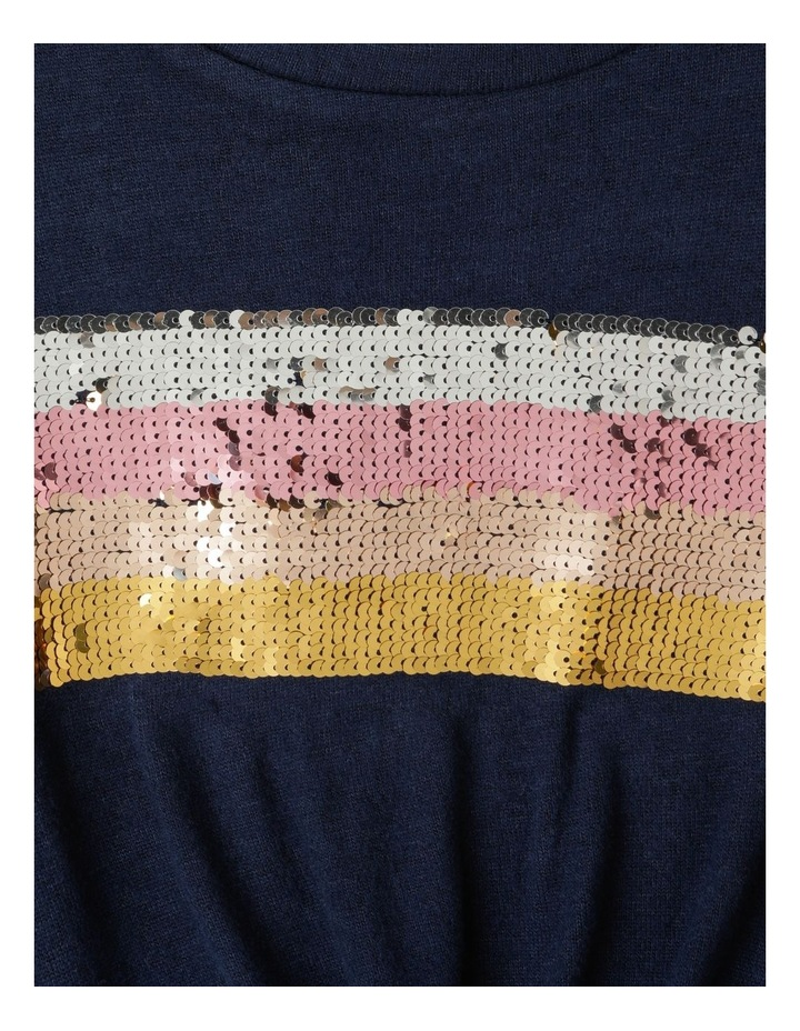 Knit Look Knot Front T-Shirt image 3