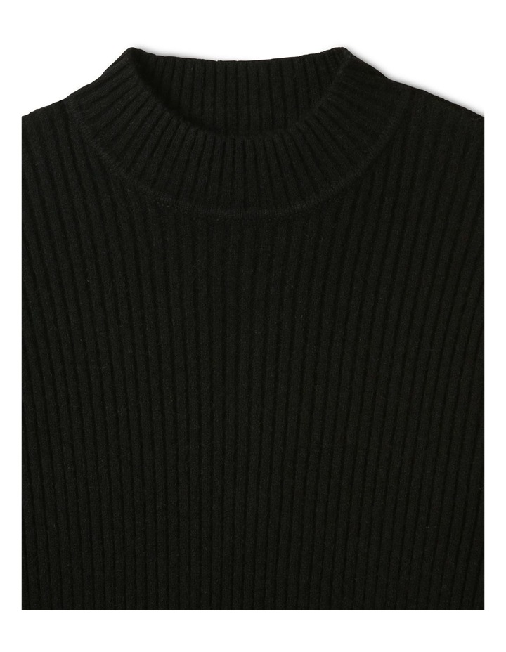 Knitted Rib Top Black image 2