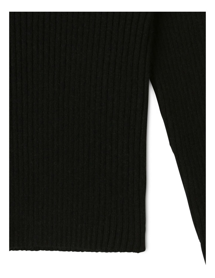 Knitted Rib Top Black image 3