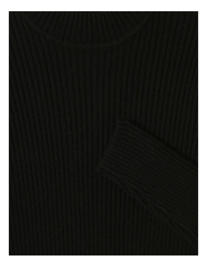 Knitted Rib Top Black image 4