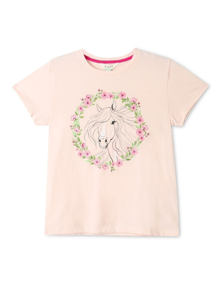 Essentials Print T-Shirt Light Pink image 1