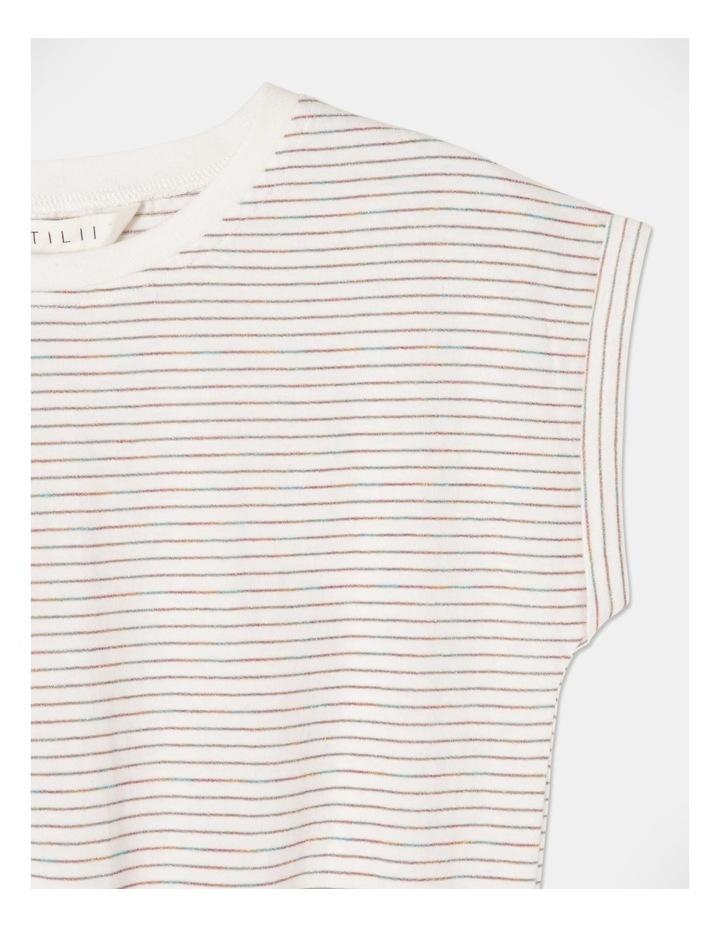 Lurex Tie Front T-Shirt image 2