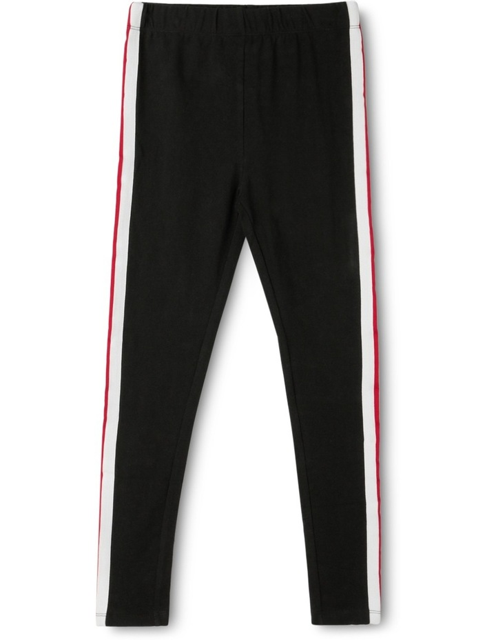 Side Stripe Knit Legging image 1