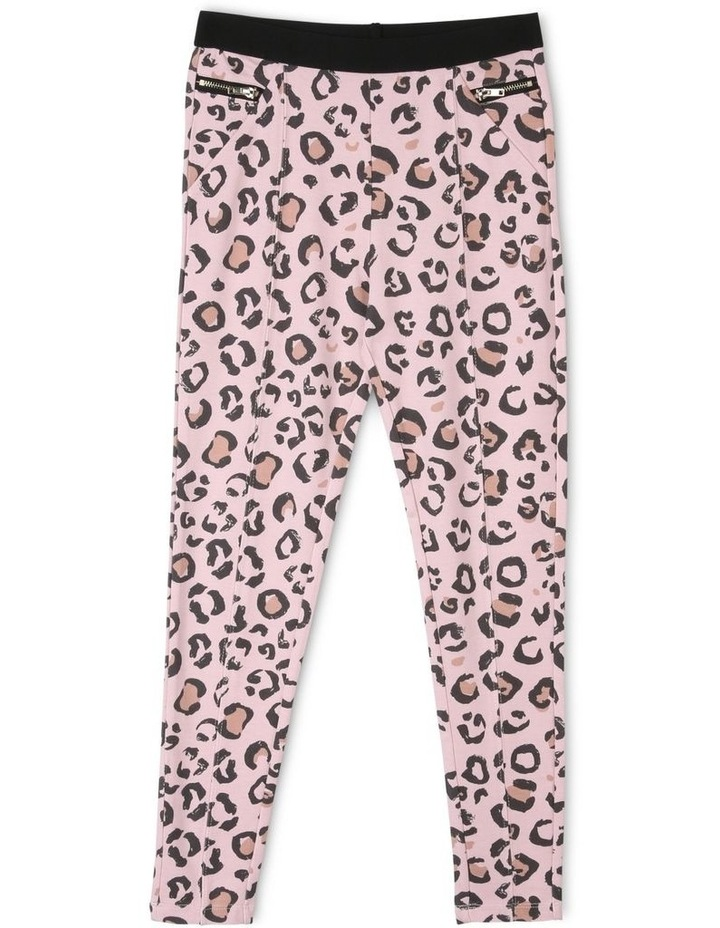 Knit Leopard Print Leggings image 1