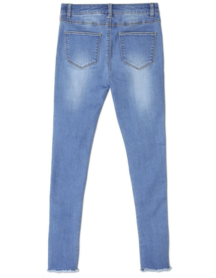 Stretch Mid Rise Skinny Jean with Tape image 2