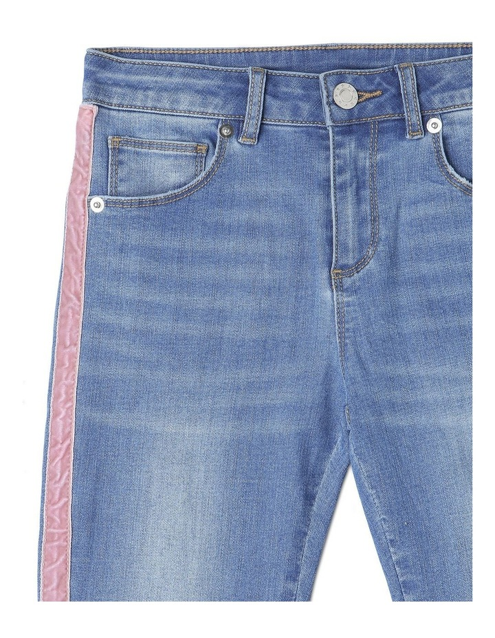 Stretch Mid Rise Skinny Jean with Tape image 3