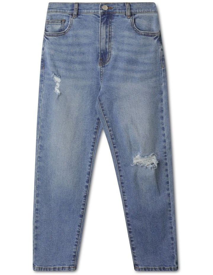Distressed High Waisted Mom Jean image 1