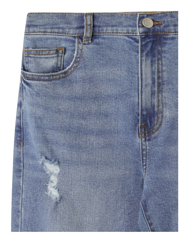 Distressed High Waisted Mom Jean image 2