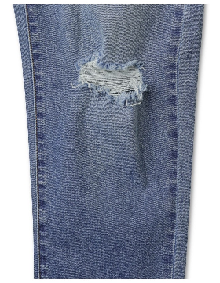 Distressed High Waisted Mom Jean image 3