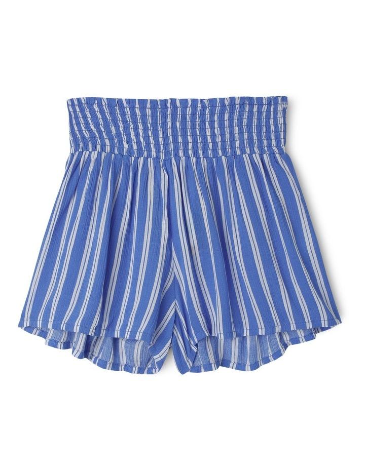 Shirred Waist Soft Short - Blue Stripe image 1