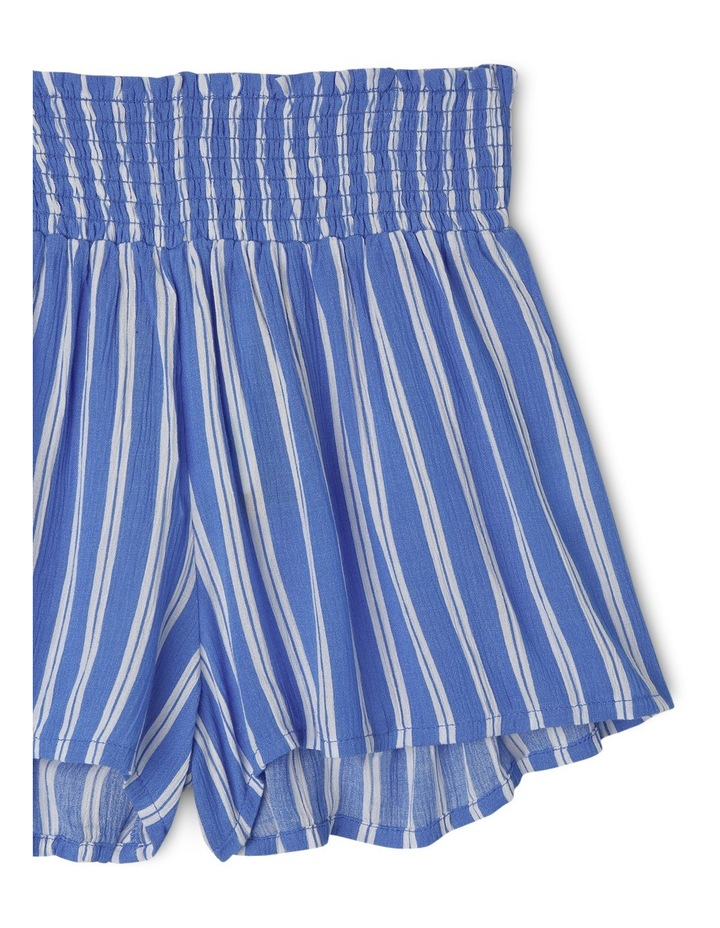 Shirred Waist Soft Short - Blue Stripe image 2