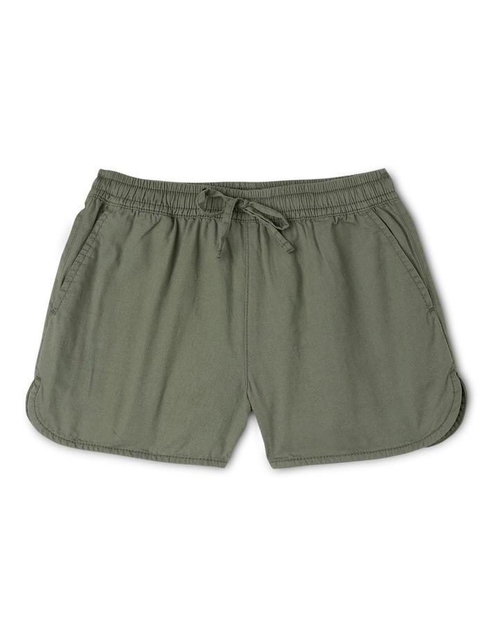 Khaki Soft Woven Short image 1