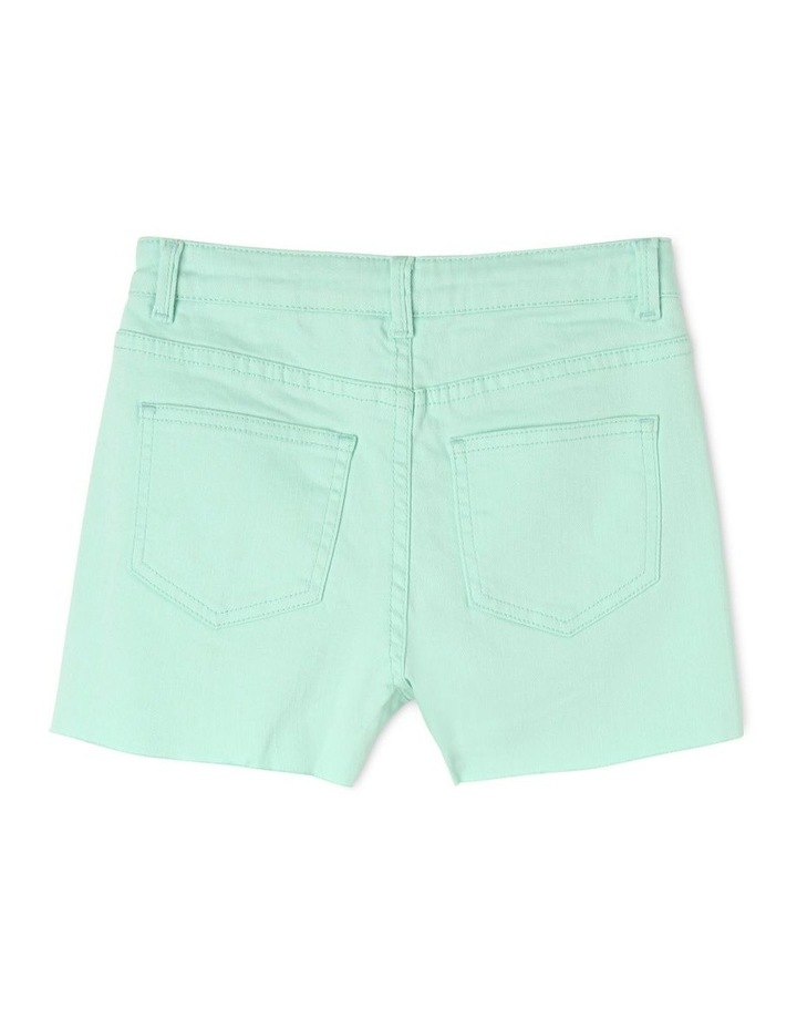 Frayed Hem High Waist Shorts image 2