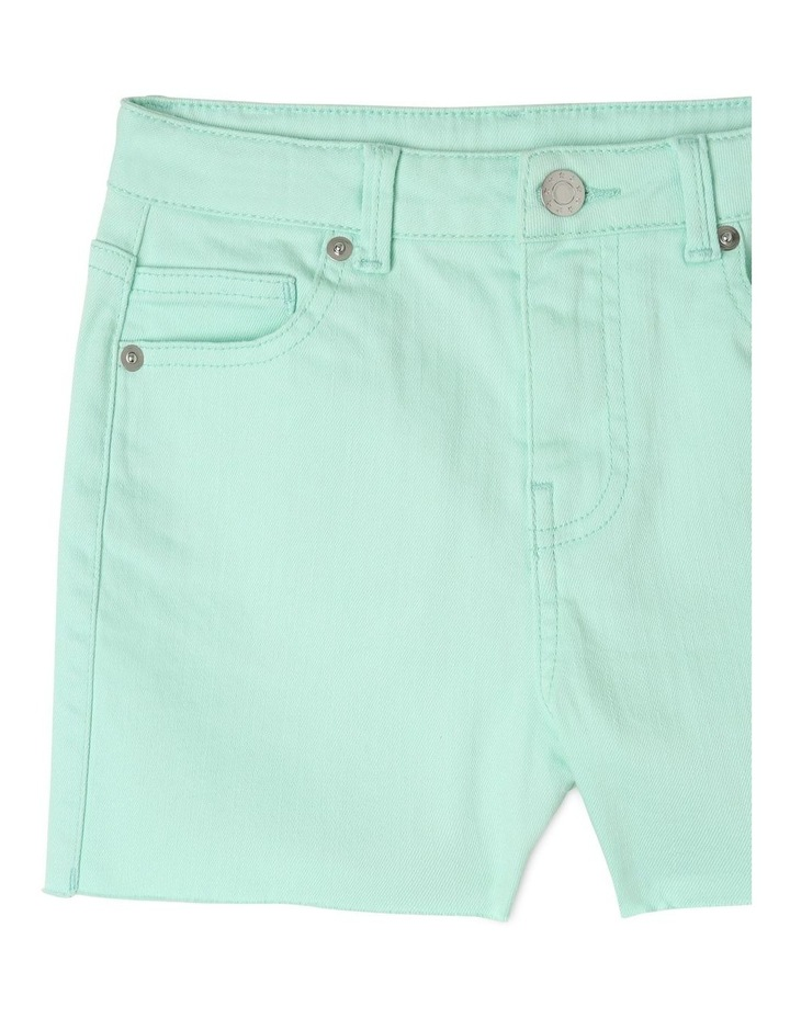 Frayed Hem High Waist Shorts image 3