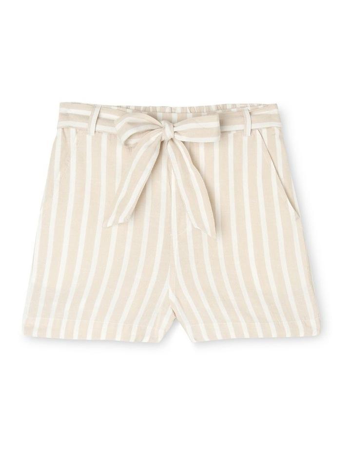 Linen Blend Spot Shorts image 1