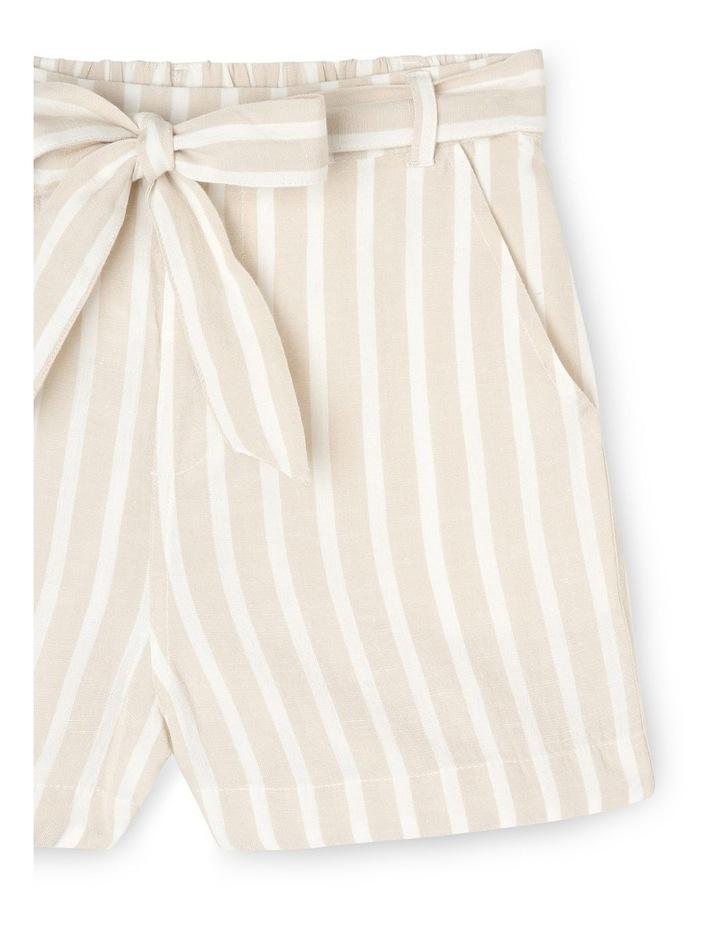 Linen Blend Spot Shorts image 3