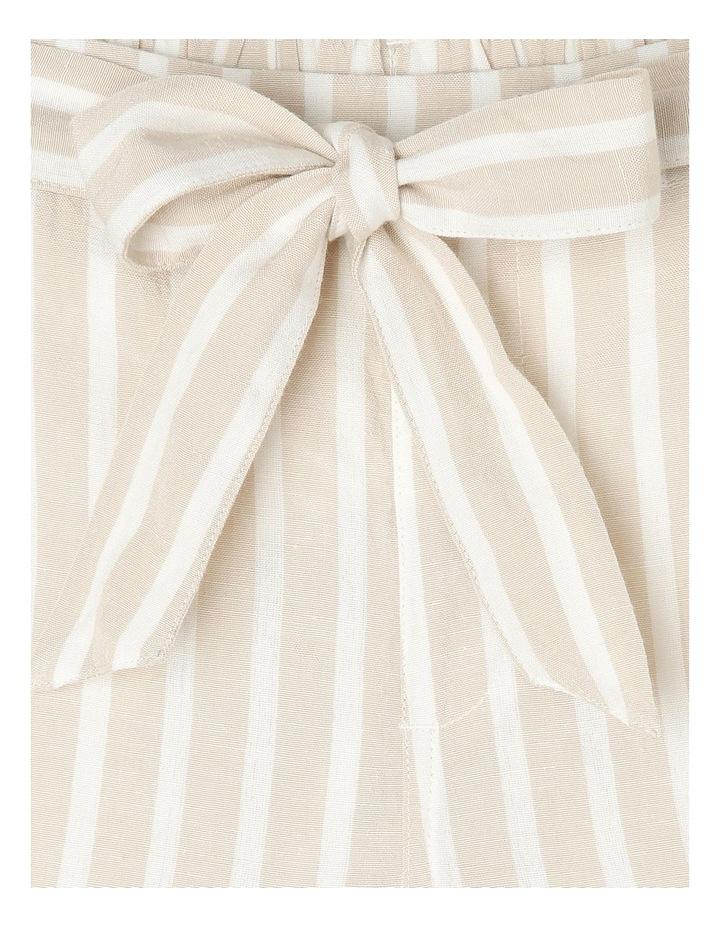 Linen Blend Spot Shorts image 4