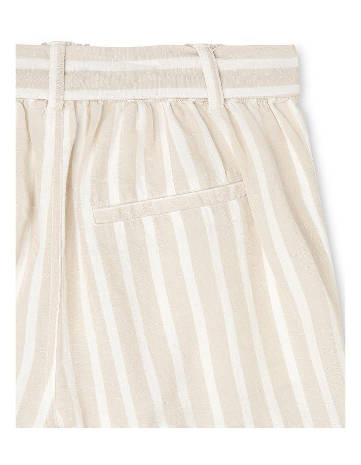 Linen Blend Spot Shorts image 5